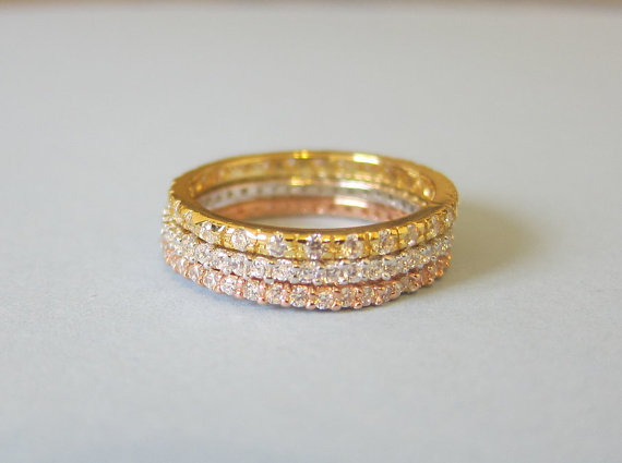 Stackable Pave Rings