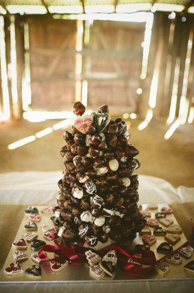 Chocolate Truffles ¦ Photo via Chic Vintage Brides