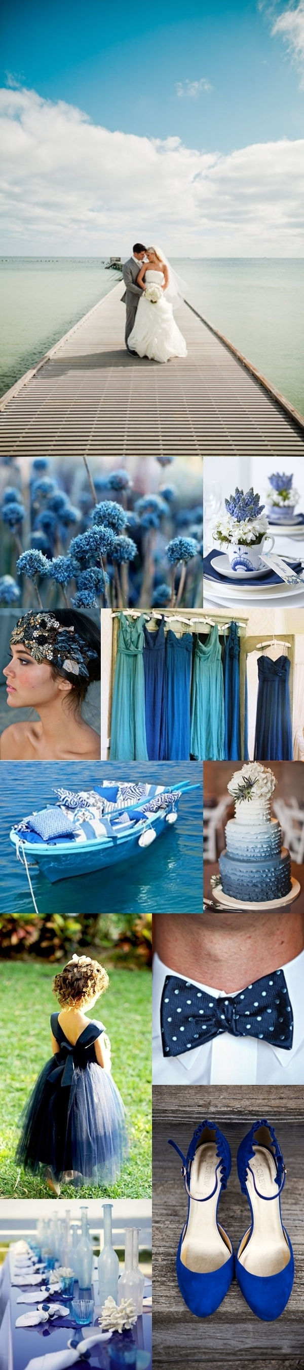 Weddings by Color - Ocean Inspired - Shades of Blue