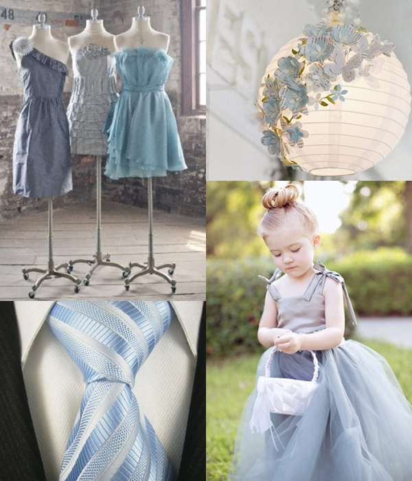 Weddings by Color - Shades of Dusty Blue and Silver (1)