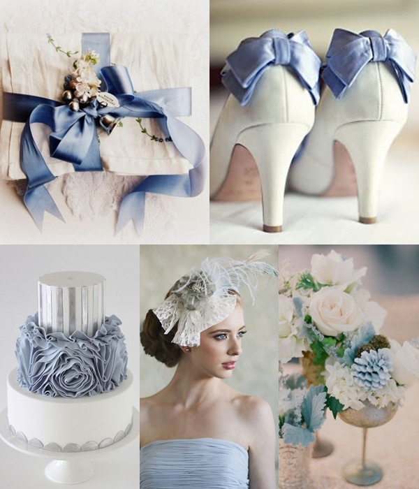 Weddings by Color - Shades of Dusty Blue and Silver (2)