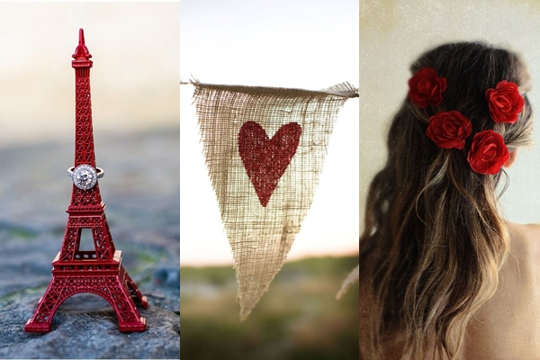 Weddings by Color - Shades of Red + White 01