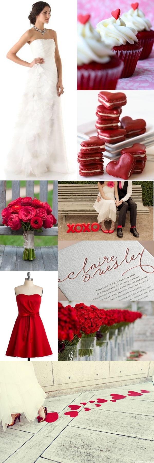 Weddings by Color - Shades of Red + White 02