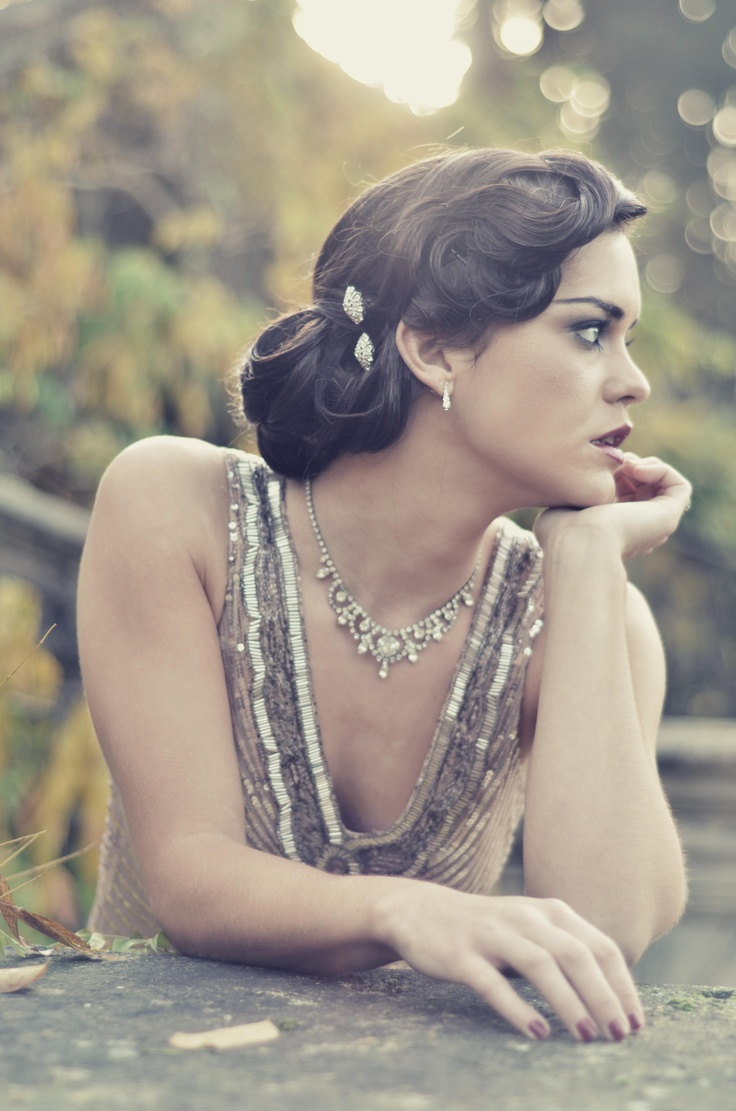 1920s Gatsby Glam Inspired Hairstyles Wedding