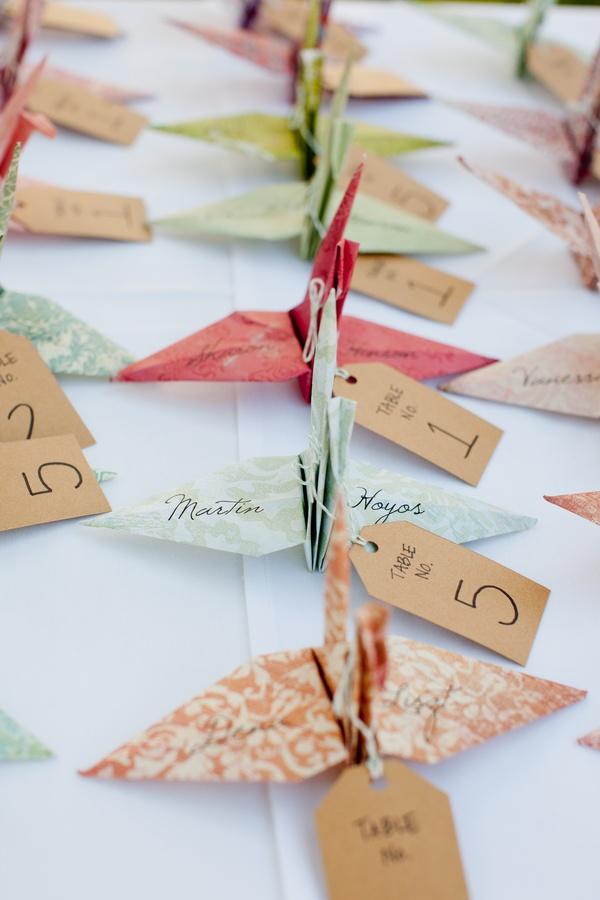 Origami flowers wedding giveaways