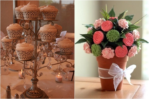 Cupcake centerpiece for wedding