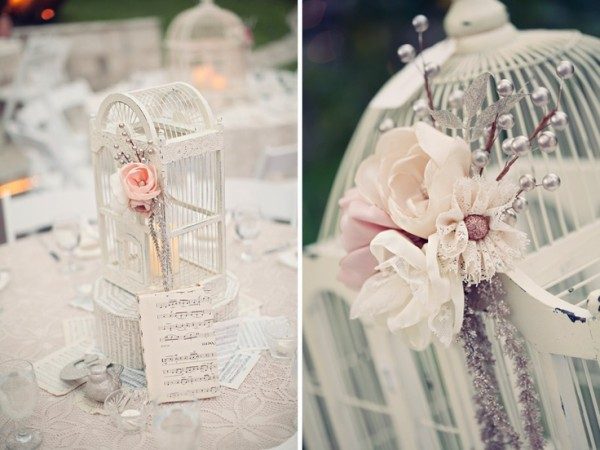 Fabric Flowers & Cages