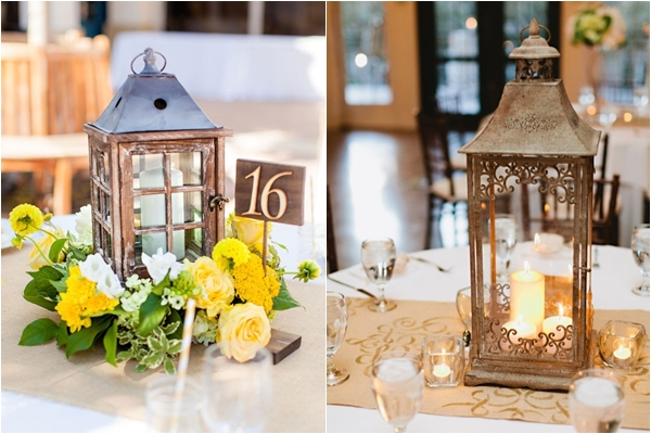 16 unique centerpiece ideas for your reception tables wedding lantern centerpiece with flowers lantern centerpiece with candles junglespirit Choice Image