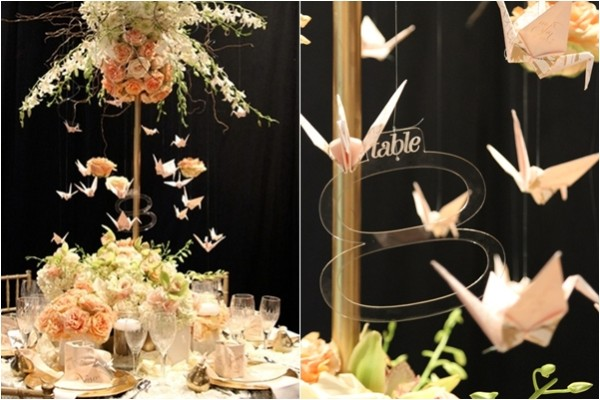 Wedding Philippines - Unique Centerpiece Ideas for your Wedding Reception Tables - Origami Paper Crane Decor