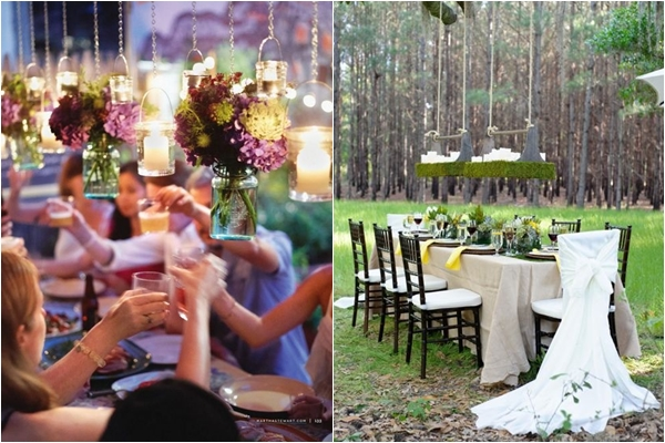 Suspended Centerpieces and Lighting, Outdoor Suspended Candle Centerpiece