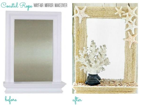 Weddings Philippines - Beach Themed Wedding Projects & DIY Inspiration - Coastal Rope Mirror Frame