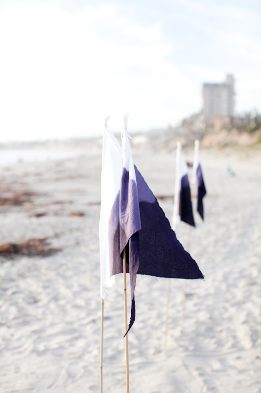 Weddings Philippines - Beach Themed Wedding Projects & DIY Inspiration - Ombre Fabric Flags