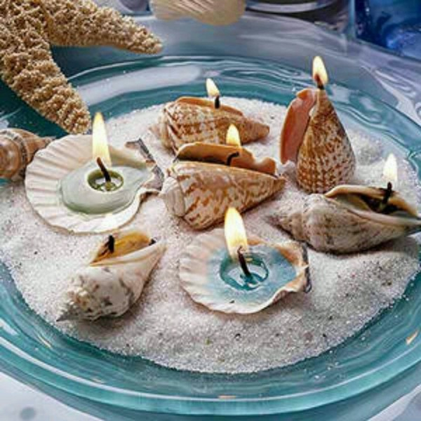 Weddings Philippines - Beach Themed Wedding Projects & DIY Inspiration - Seashell Candles