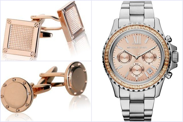 Weddings Philippines - Rose Gold Wedding Bling - Groom Accessories
