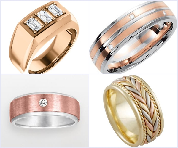 Weddings Philippines - Rose Gold Wedding Bling - Men's Ring