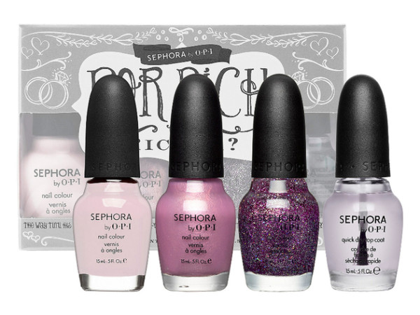Wedding Philppines - 9 Bridal Friendly Nail Colors - Sephora by OPI Bridal nail kits For Rich or Richer