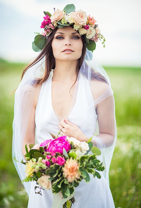 Wedding Philppines - Floral Bridal Crowns & Headpiece Ideas 05