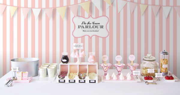 My Top 15 Free Wedding Printables - Ice Cream Parlor Bar Stand