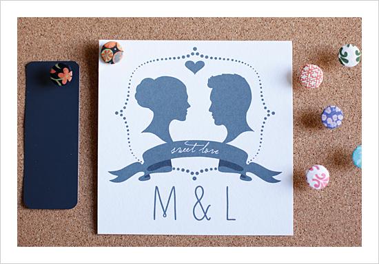 My Top 15 Free Wedding Printables - Monogram Silhoutte