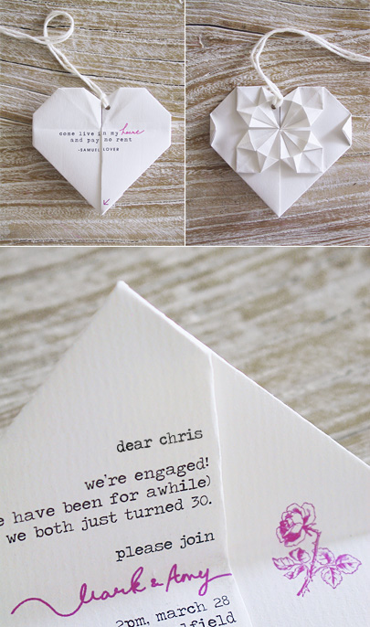Weddding Philippines - Creative and Unique Wedding Invitations and Save the Dates - Origami 02