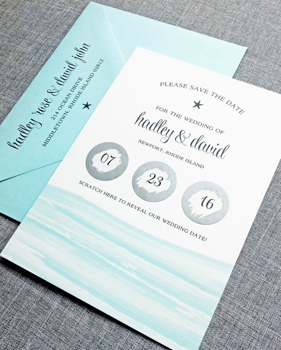 Weddding Philippines - Creative and Unique Wedding Invitations and Save the Dates - Scratch-Off Save the Dates