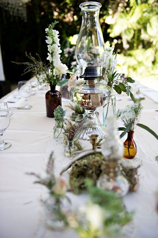 Oil lamps wedding