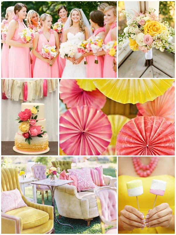Wedding Philippines - Weddings by Color - Pink + Yellow Wedding Ideas 01