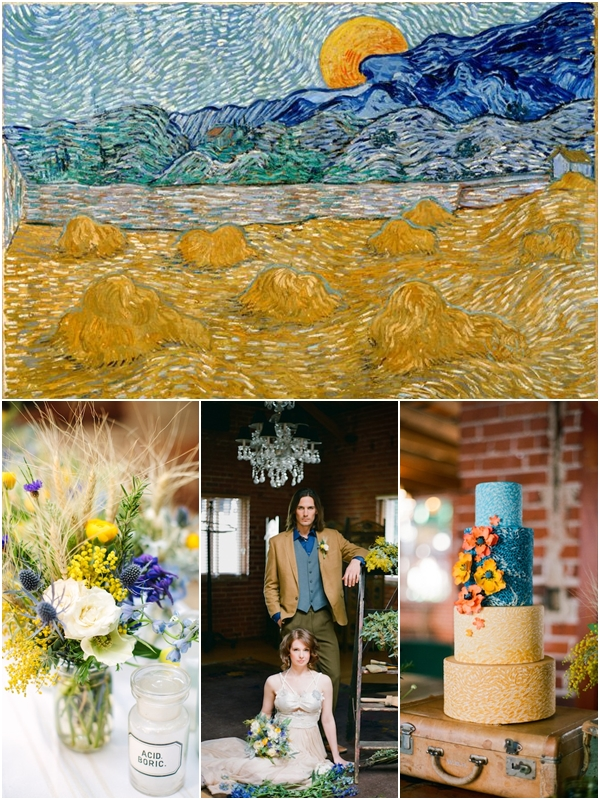 Wedding Philippines - Van Gogh Art Painting Inspired Weddings - Landscape with Wheat Sheaves and Rising Moon 01