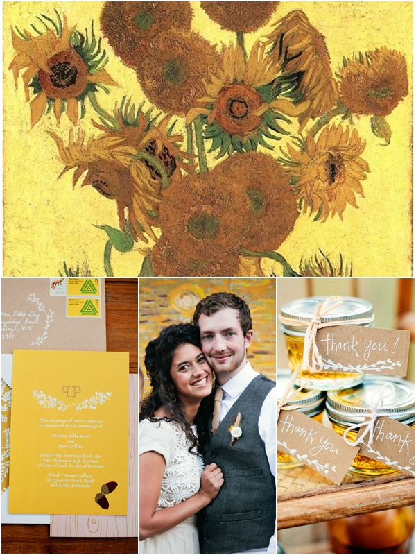 Wedding Philippines - Van Gogh Art Painting Inspired Weddings - Vase with Fifteen Sunflowers 01