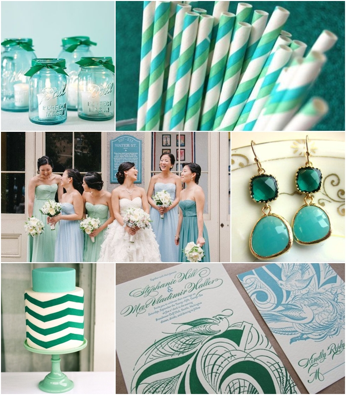 Wedding Philippines - Weddings by Color - Aqua Emerald Wedding Ideas 01