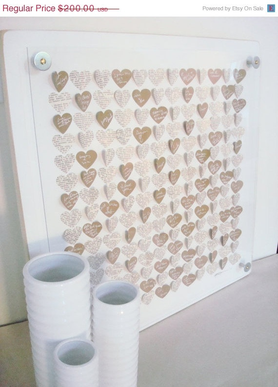 3D Heart Guestbook | by Celadon Home  via Etsy