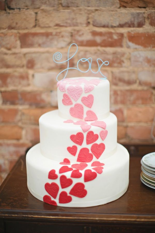 Cake of Hearts | Photo by Paperlily Photography  via Ruffled