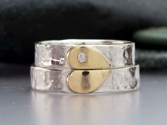Wedding Philippines - Inspired by Heart Details and Wedding Ideas - Diamond Heart Wedding Band Set