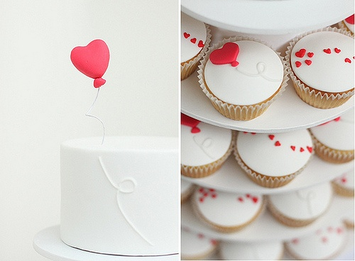 Heart Cupcakes | Photo by Hello Naomi  via Thoughtful Day