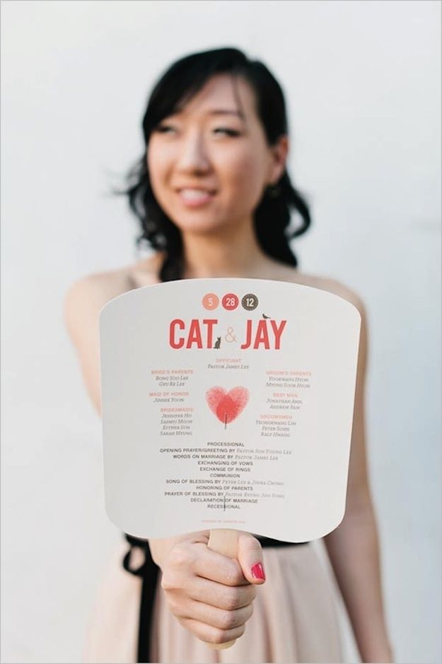 Wedding Fan Program | Photo by Jennifer Sosa  via Wedding Chicks
