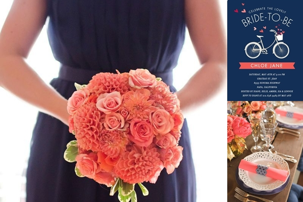 Weddings By Color Shades Of Navy Blue Coral Wedding