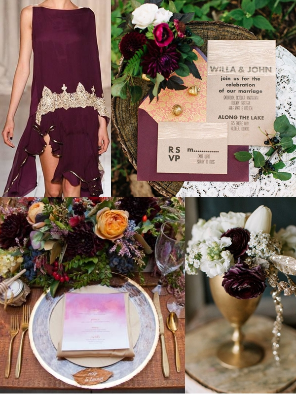 Dress |Invitation Suite | Place Settings | Centerpiece