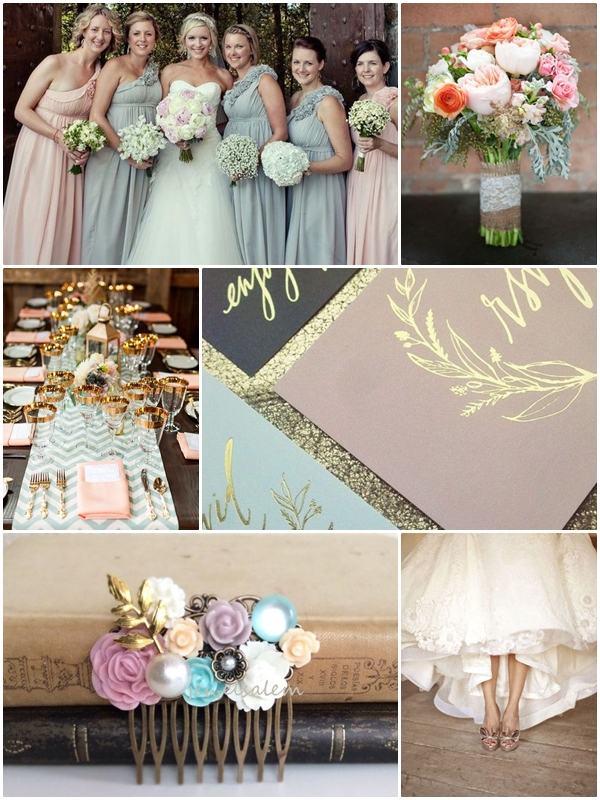 Wedding Philippines - Weddings by Color - Pastel Pink Blue Gray Wedding Ideas 01