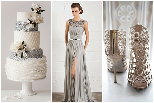 Wedding Philippines - Weddings by Color - Silver Gray Metallic Wedding Ideas 02