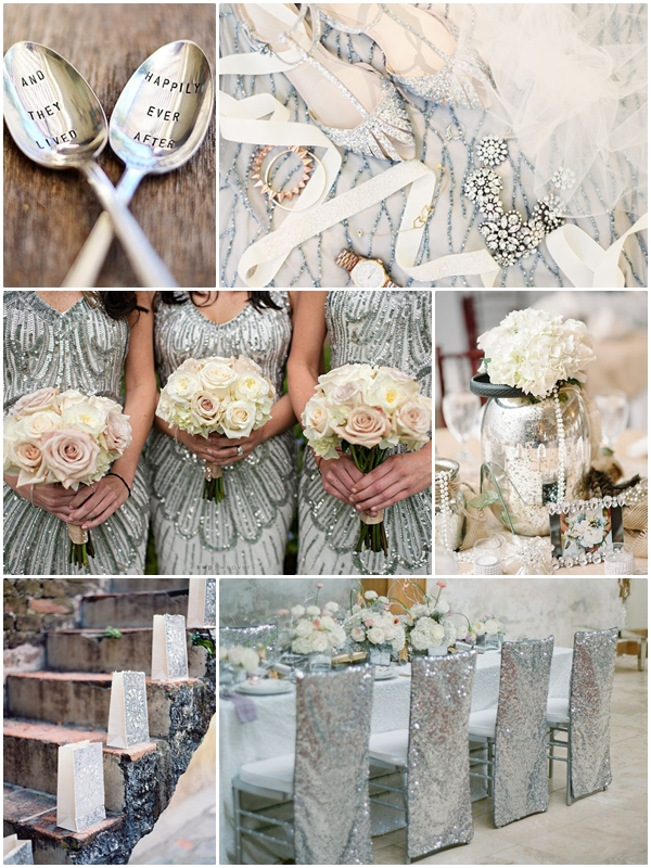 Wedding Philippines - Weddings by Color - Silver Gray Metallic Wedding Ideas 03