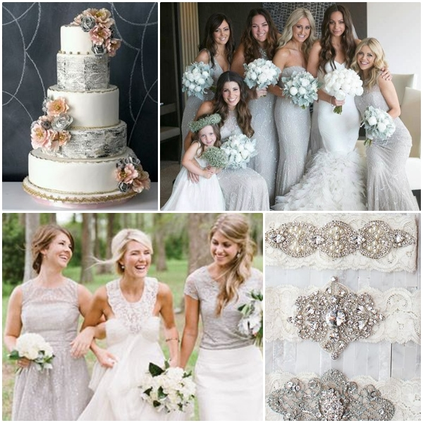 Wedding Philippines - Weddings by Color - Silver Gray Metallic Wedding Ideas 04