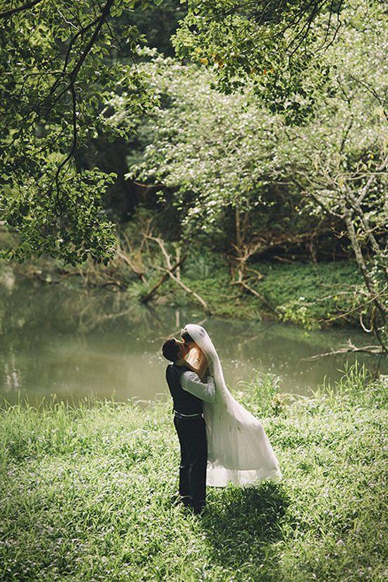 Wedding Philippines - Whimsical Fairytale Forest Woodland Wedding Ideas - Bride Groom 01