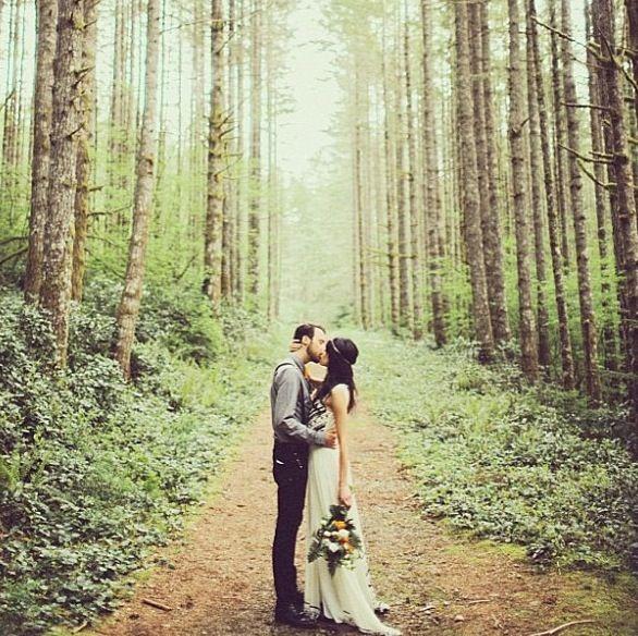 Wedding Philippines - Whimsical Fairytale Forest Woodland Wedding Ideas - Bride Groom 02