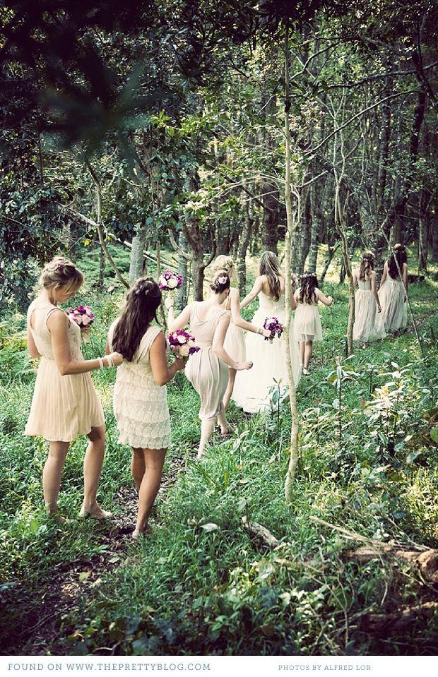 Wedding Philippines - Whimsical Fairytale Forest Woodland Wedding Ideas - Bridesmaids 01