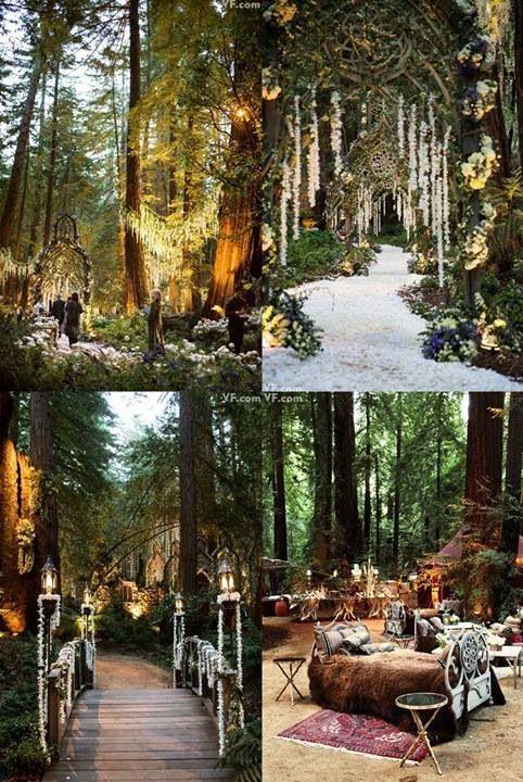 Wedding Philippines - Whimsical Fairytale Forest Woodland Wedding Ideas - Decor 04