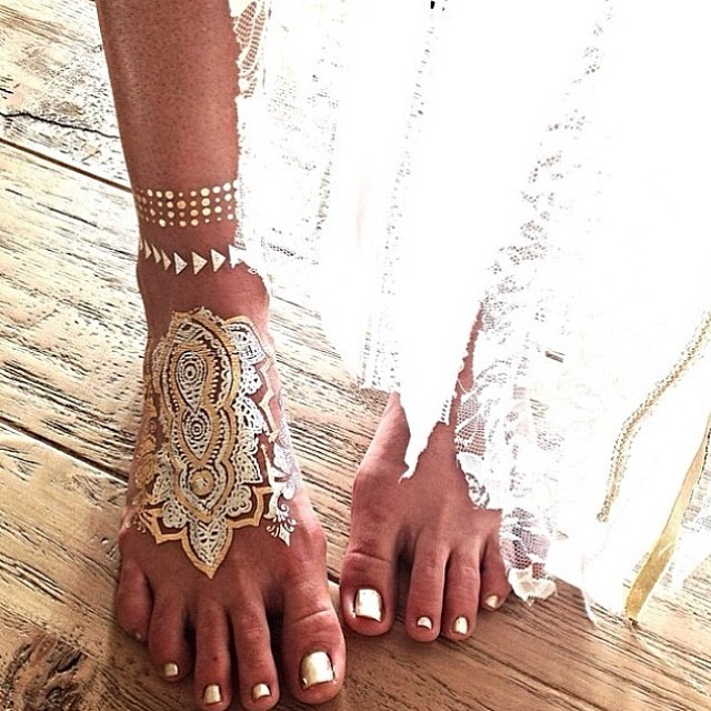 Wedding Philippines - Wedding Trends - Flash Metallic Jewelry Wedding Bridal Tattoos (1)