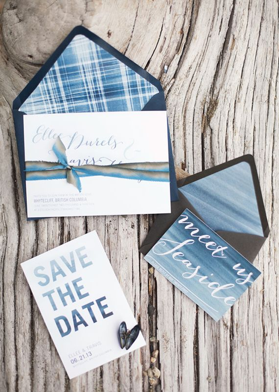 Wedding Invitations (Photo by Gucio Photography via 100 Layer Cake)