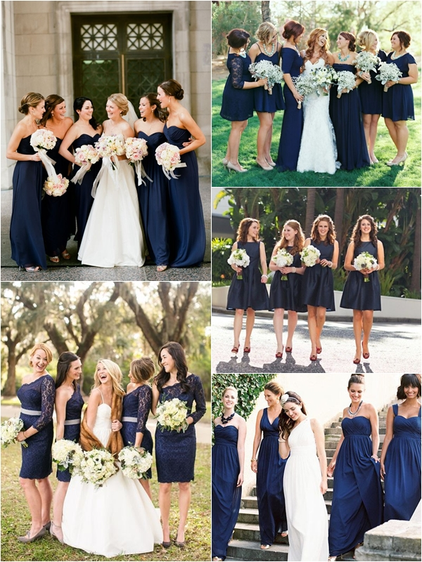 Wedding Philippines Top 10 Most Flattering Bridesmaids Dress Colors 02 Navy Blue