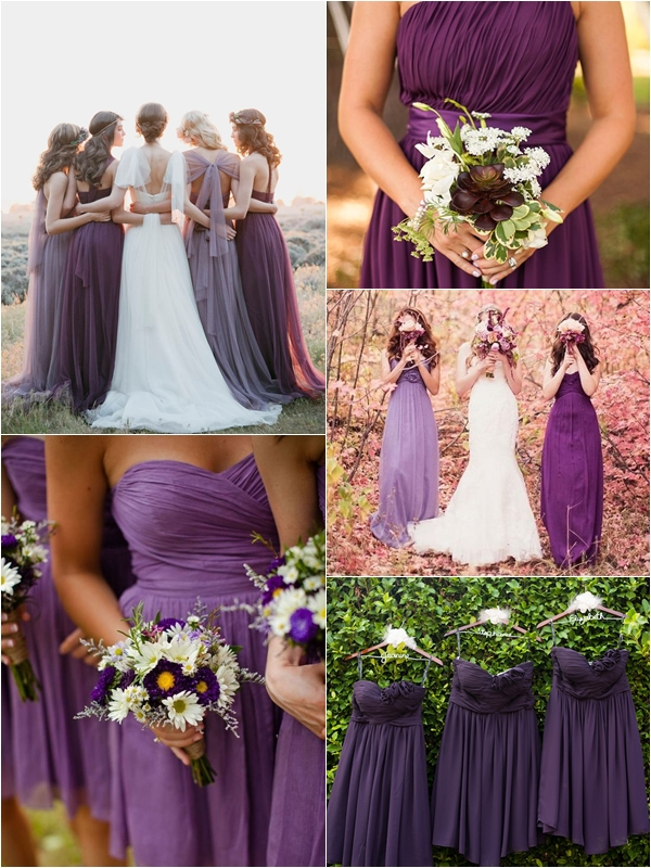 Wedding Philippines Top 10 Most Flattering Bridesmaids Dress Colors 04 Purple Plum