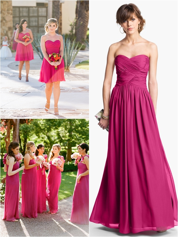 1aa958035848 Wedding Philippines - Top 10 Most Flattering Bridesmaids Dress Colors - 06  Fuchsia Pink
